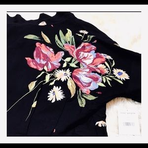 Free People Gemma Printed Tunic Size L NWT